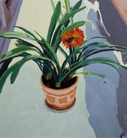 Picture n°4 (Sur la terrasse), 2008 - acrylique sur toile, 112 x 104 cm