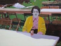 Picture n°9 (Les tables), 2008 - acrylique sur toile, 89 x 116 cm