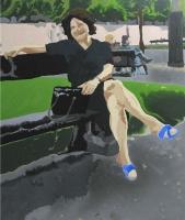 Picture n°7 (Un été), 2008 - acrylique sur toile, 60 x 50 cm