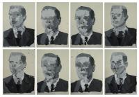 Anonymous II, 2008 - acryl sur papier, 8x 29.7 x 21 cm