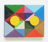 Rétroaction n°14, huile sur toile  - 20 x 25 cm, 2012