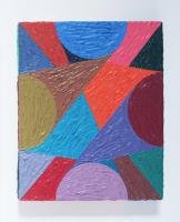 Rétroaction n°36, huile sur toile  - 30 x 25 cm, 2013
