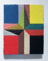 Rétroaction n°38, huile sur toile  - 30 x 25 cm, 2013