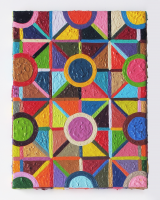 Rétroaction n°4, huile sur toile  - 24 x 18 cm, 2012