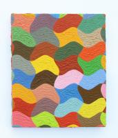 Rétroaction n°44, huile sur toile  - 30 x 25 cm, 2013
