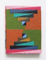 Rétroaction n°5, huile sur toile  - 4 x 18 cm, 2012