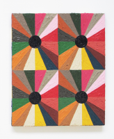 Rétroaction n°7, huile sur toile  - 34 x 29 cm, 2012