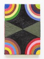 Rétroaction n°9, huile sur toile  - 25 x 18 cm, 2012