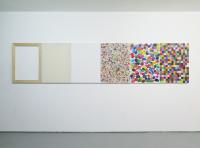 Déclinaison, 80 x 360 cm, 2015 -  huile/toile, châssis, assemblage
