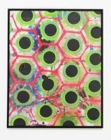 Réalité augmentée n°2, 2011 - acrylique sur papier, 50,5x40,5 cm