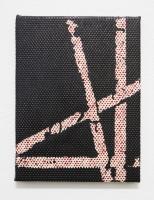 horizon vertical, 2018 - acryl et corio/plastique, 34,5x26cm