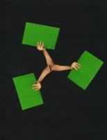 contrefaçon, 2010 - collage sur papier, 20,5 x 15,5 cm