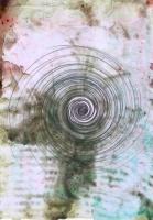 Cyclone, 2011 - huile et graphite/papier calque, A4