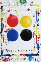 CMJN again, 2012 - acrylique sur papier, 50 x 34 cm