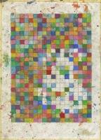Sol minéral, 2012 - huile sur papier imprimé, 29,7x21cm