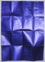 Infinity (Purple chrome), 2013 - acrylique et pliages sur papier