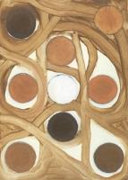Rêveries hypnagogiques, 2013 - huile sur papier, 29,7 x 21 cm