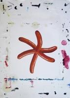 Knaki, 2014 - technique mixte sur papier, 35x25cm