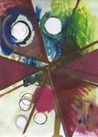 Compulsion modérée, 2015 - huile sur papier, 29,7 x 21 cm