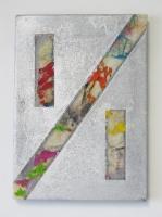 1/1, 2016 - acryl et spray/toile, 23 x 16,5 cm