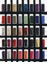 certaines limites, 2016 - acryl/papier imprimé, 23,5x17,7cm