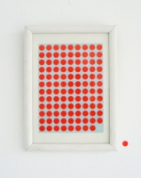 ohne titel, 2006, 108 ex - décollage sur papier, 10 x 15 cm